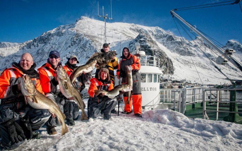 Зимняя рыбалка в Норвегии
